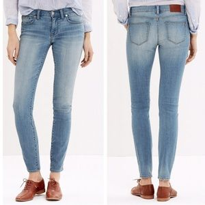 Madewell Skinny Skinny Light Wash Jeans
